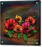 Basket Of Hibiscus Flowers Acrylic Print