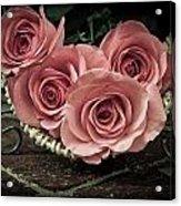 Basket Of Roses Acrylic Print