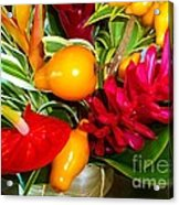 Basket Of Tropic Acrylic Print