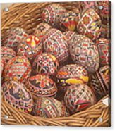 Basket With Easter Eggs Acrylic Print