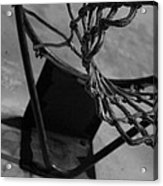 Basketball At Night Acrylic Print