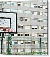 Basketball Court In A Social Neighbourhood Acrylic Print