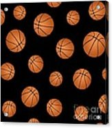 Basketball Pattern Acrylic Print
