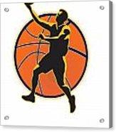 Basketball Player Lay Up Ball Acrylic Print