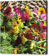 Basketful Of Flowers Acrylic Print