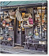 Baskets For Sale Acrylic Print by Heather Applegate