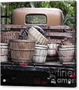 Baskets Of Feed Acrylic Print