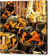 Baskets Of Gourds Acrylic Print
