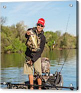 Bass Caught In Austin Texas Acrylic Print