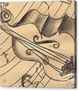 Bass Doodle Acrylic Print