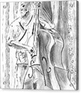 Bass Fiddle Blues Acrylic Print by Elizabeth Briggs