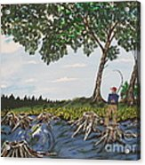Bass Fishing In The Stumps Acrylic Print