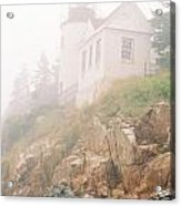Bass Harbor In Fog - Vertical Acrylic Print