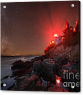 Bass Harbor Lighthouse Milky Way Acrylic Print