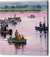 Bass River Scallopers Acrylic Print