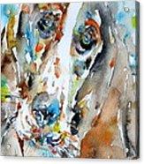 Basset Hound - Watercolor Portrait.1 Acrylic Print