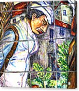 Bastille Metro No 3 Acrylic Print by A Morddel