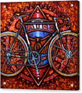 Bates Bicycle Acrylic Print by Mark Howard Jones