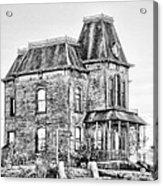Bates Motel Haunted House Black And White Acrylic Print