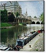 Bath Canal Acrylic Print