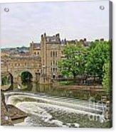 Bath On River Avon 8482 Acrylic Print