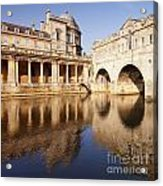 Bath Pulteney Bridge And Colonnade Bath Acrylic Print by Colin and Linda McKie