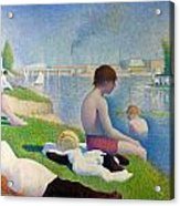 Bathers In Asnieres Acrylic Print