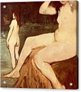 Bathers On Seine Acrylic Print