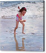 Bathing Beauty Running Acrylic Print