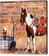 Bathing Cowgirl Acrylic Print