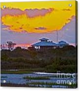 Bathouse Sunset Acrylic Print
