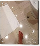Bathroom Foot Entering A Bathroom Acrylic Print