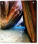 Baths In Virgin Gorda Acrylic Print