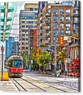 Bathurst Street Car Coming North To Queen Street Acrylic Print