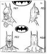 Batman Face Guard Acrylic Print