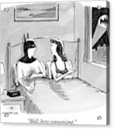 Batman In Bed With Woman After Having Sex Acrylic Print