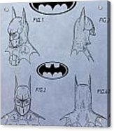 Batman Mask Patent Acrylic Print
