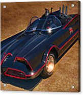 Batmobile Acrylic Print by Tommy Anderson