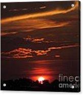 Baton Rouge Sizzling Sunday Sunset  Acrylic Print