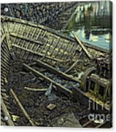 Battered Boat  Acrylic Print
