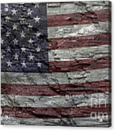 Battered Old Glory Acrylic Print