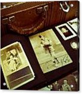 Battered Suitcase Of Antique Photographs Acrylic Print