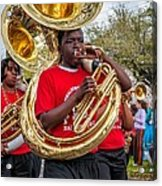 Battered Tuba Blues Acrylic Print