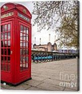 Battersea Phone Box Acrylic Print