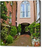 Battery Carriage House Inn Alley Acrylic Print