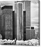 Battery Park Bw Ir Acrylic Print