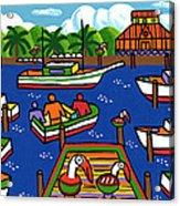 Battery Pier - Apalachicola Acrylic Print