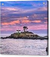 Battery Point Lighthouse And Moon Acrylic Print