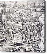 Battle Between Tuppin Tribes Acrylic Print