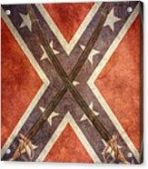 Battle Flag Civil War Confederate States Acrylic Print